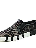 Недорогие -Муж. Комфортная обувь Полиуретан Осень На каждый день Мокасины и Свитер Дышащий Черный / Красный / Синий