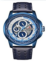 cheap -NAVIFORCE Men's Sport Watch Dress Watch Japanese Japanese Quartz 30 m Water Resistant / Water Proof Calendar / date / day New Design Genuine Leather Band Analog Luxury Fashion Black / Blue / Brown -