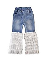 baratos -Bébé Para Meninas Sólido Jeans