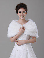 cheap -Sleeveless Faux Fur Wedding / Party / Evening Women's Wrap With Faux Pearl Capelets