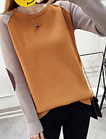 cheap -Women's Long Sleeve Pullover - Color Block