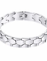 cheap -Men's Stylish / Link / Chain Chain Bracelet / Wide Bangle - Stainless Creative Stylish, European, Trendy Bracelet Silver For Daily / Going out