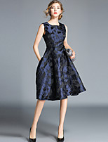 cheap -Women's Vintage / Elegant A Line Dress - Abstract Print