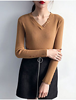 cheap -Women's Basic / Street chic Pullover - Solid Colored, Patchwork
