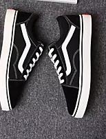 Недорогие -Универсальные Комфортная обувь Полотно Весна & осень На каждый день Кеды Черный / Серый