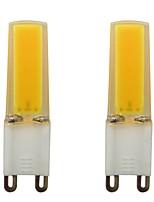 Недорогие -2pcs 3 W 150-200 lm G9 Двухштырьковые LED лампы 1 Светодиодные бусины COB Декоративная Тёплый белый / Холодный белый 110-120 V