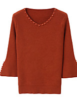 economico -Per donna Essenziale Pullover Tinta unita