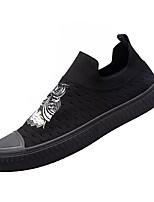 Недорогие -Муж. Сетка / Полиуретан Осень Удобная обувь Мокасины и Свитер Черный