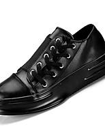Недорогие -Муж. Полиуретан Осень Удобная обувь Кеды Белый / Черный / Черно-белый