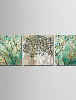 Недорогие -С картинкой Отпечатки на холсте - Абстракция / Цветочные мотивы / ботанический Modern