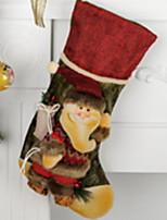 baratos -Meias Finas / Enfeites de Natal Inspiracional Tecido de Algodão Quadrada Novidades Decoração de Natal
