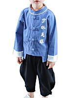 Недорогие -Дети Мальчики С принтом Длинный рукав Набор одежды