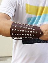 cheap -Men's Braided Wide Bangle - Leather Creative Punk, Rock Bracelet Black / Brown For Street / Bar