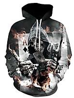 cheap -men's sports long sleeve slim hoodie - skull hooded