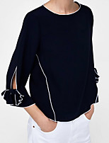 cheap -Women's Work T-shirt - Color Block