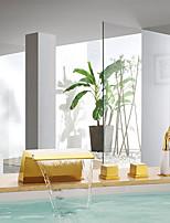 Недорогие -Смеситель для ванны - Фиксированный Ti-PVD Монтаж на стену Керамический клапан