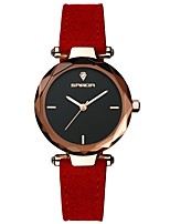 cheap -SANDA Women's Dress Watch Wrist Watch Japanese Quartz 30 m Water Resistant / Water Proof Casual Watch Cool Leather Band Analog Casual Fashion Black / Red / Brown - Red Dark Red Dark Green