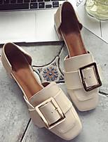 Недорогие -Жен. Обувь Полиуретан Весна & осень Удобная обувь / Туфли лодочки Обувь на каблуках На толстом каблуке Черный / Бежевый / Коричневый