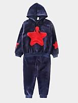Недорогие -Дети / Дети (1-4 лет) Мальчики С принтом Длинный рукав Набор одежды