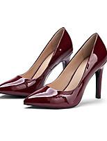 Недорогие -Жен. Обувь Лакированная кожа Лето Удобная обувь Обувь на каблуках На шпильке Белый / Черный / Винный