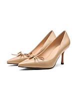 Недорогие -Жен. Комфортная обувь Наппа Leather Весна Обувь на каблуках На шпильке Черный / Бежевый / Миндальный