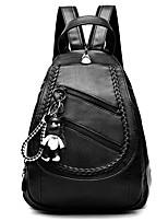 Недорогие -Жен. / Девочки Мешки PU / Хлопок рюкзак Молнии / Однотонные Черно-серый / Красно-черный / Черно-белый