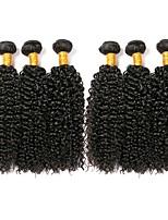 abordables -6 offres groupées Cheveux Brésiliens Kinky Curly Cheveux humains Tissages de cheveux humains / Bundle cheveux / One Pack Solution 8-28 pouce Couleur naturelle Tissages de cheveux humains Extention