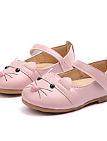 cheap -Girls' Shoes PU(Polyurethane) Spring &  Fall Flower Girl Shoes Flats Walking Shoes Buckle for Kids White / Black / Pink