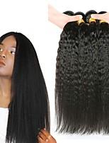 Недорогие -4 Связки Малазийские волосы Вытянутые Необработанные / Натуральные волосы Подарки / Косплей Костюмы / Человека ткет Волосы 8-28 дюймовый Естественный цвет Ткет человеческих волос
