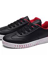 Недорогие -Муж. Комфортная обувь Полиуретан Осень На каждый день Кеды Нескользкий Контрастных цветов Белый / Черный / Черный / Красный