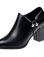 billiga -Dam Fashion Boots PU Höst Minimalism Stövlar Bastant klack Svart / Vin