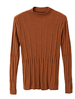 cheap -women's long sleeve cotton pullover - solid colored turtleneck