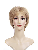 cheap -Synthetic Wig kinky Straight With Bangs Wig Short Blonde Synthetic Hair 14 inch Women's Fashionable Design Cool Exquisite Blonde