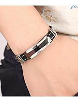 cheap -Men's Classic / Stylish Bracelet Bangles - Stainless Steel Creative Stylish, Simple Bracelet Black For Wedding / Daily