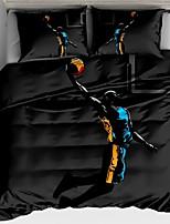 Недорогие -Пододеяльник наборы Геометрический принт Полиэстер Активный краситель 3 предмета / 3 шт. (1 пододеяльник, 2 наволочки)