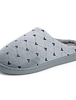Недорогие -Жен. Обувь Сатин Наступила зима Удобная обувь Тапочки и Шлепанцы На плоской подошве Круглый носок Красный / Синий / Розовый