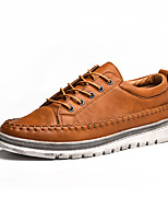 Недорогие -Муж. Комфортная обувь Полиуретан Осень Кеды Черный / Серый / Коричневый