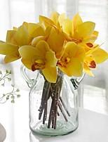 baratos -Flores artificiais 4.0 Ramo Clássico / Solteiro (L150 cm x C200 cm) Estiloso / Pastoril Estilo Magnólia Flor de Mesa