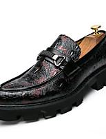 abordables -Homme Chaussures de confort Polyuréthane Automne Business Mocassins et Chaussons+D6148 Ne glisse pas Couleur Pleine Noir / Rouge / Bleu