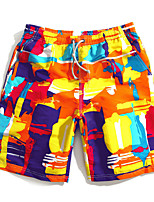 cheap -Men's Swimming Trunks / Swim Shorts Rain-Proof, Ultra Light (UL), Quick Dry POLY Swimwear Beach Wear Board Shorts / Bottoms Multi Color Surfing / Beach / Watersports