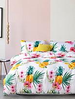 cheap -Duvet Cover Sets Floral Polyster Reactive Print 3 Piece