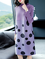 cheap -SHYSLILY Women's Basic / Elegant Sheath Dress - Solid Colored / Polka Dot