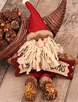 Недорогие -Рождественские украшения Праздник деревянный / Полиэстер Квадратный Оригинальные Рождественские украшения