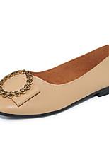 Недорогие -Жен. Комфортная обувь Полиуретан Осень Минимализм На плокой подошве На плоской подошве Черный / Бежевый