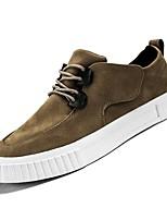 cheap -Men's Pigskin Fall Comfort Sneakers Black / Gray / Brown