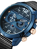 cheap -Men's Sport Watch Wrist Watch Japanese Quartz Casual Watch Cool Large Dial Stainless Steel Band Analog Luxury Fashion Black / Rose Gold - Blue Black / White Rose Gold / White