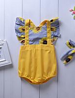 Недорогие -2шт малыш Девочки Активный / Уличный стиль Цветочный принт С принтом Без рукавов Хлопок Bodysuit