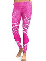 preiswerte -Damen Alltag Grundlegend Legging - Blumen Mittlere Taillenlinie