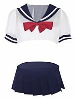 cheap -Women's Uniforms & Cheongsams / Suits Nightwear - Lace / Cut Out, Color Block / Patchwork