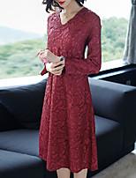 cheap -SHYSLILY Women's Basic / Elegant Sheath Dress - Solid Colored